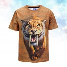 Cool T-shirt 3D Print Saber Tooth Tiger Summer Tops Tees Comfortable Print Shirt