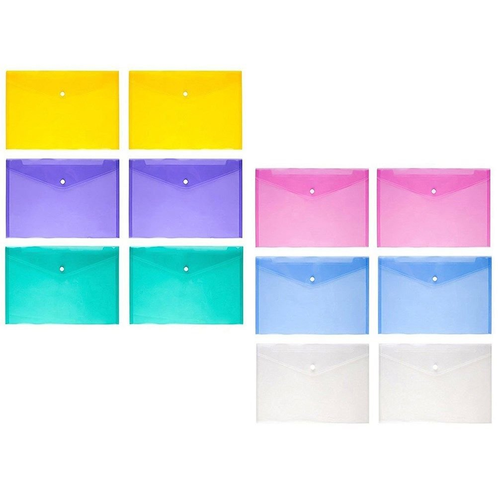 24/12PCS Felt File Paper Folder A4 Document Filing Bag Organizer Supply Envelope