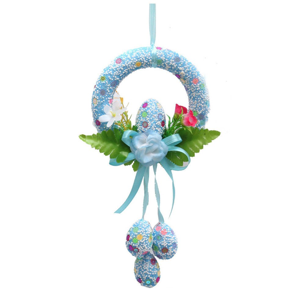 Easter Egg Decorative Wreath Party Foam DIY Hanging Ornaments for Home Decor