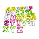 26PCS Safe Colorful Alphabet Letter Biscuit Cookie Cutter Cake Embossed Mold