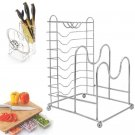 3 In 1 Stainless Steel Bakeware Rack in Cabinets Counter Pantry