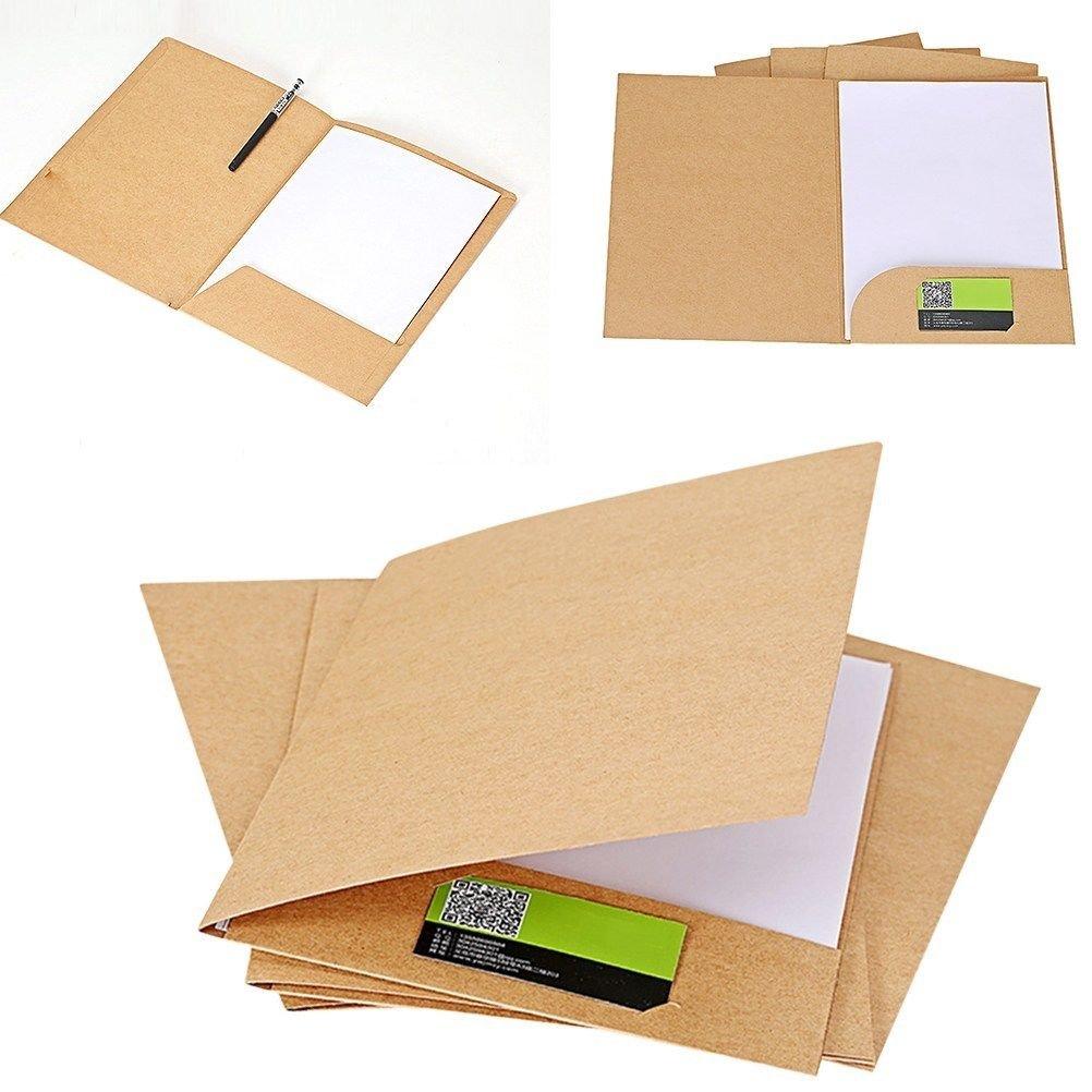 Kraft Paper File Folder Presentation Folder A4 Premium Durable Document Folder