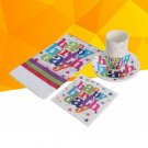 Children Boys Theme Party Colorful Decorations Supplies with Plates Napkins Cups