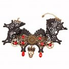 1 Pcs Lace Retro Elegant Necklaces Steampunk Gear Womens Skeleton Skull Choker