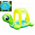 Sunshade Baby Kids Float Seat Boat Inflatable Swim Ring Pool Water Fun Tortoise