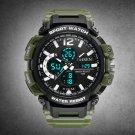 Mens Sports Watch Quartz Waterproof Digital Wrist Watch with Dual Time Calendar