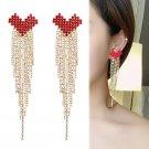 Tassel Earrings Women Dangle Earrings Chain Drop Earrings Hook Studs for Banquet