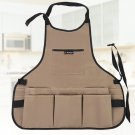 1 PC Women Durable Oxford Fabric Multi-functional Multi-Pockets Apron for Garden