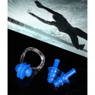 Unisex Swim Goggles Nose Clip Ear Plugs Clear Swimming Glasses for Adults