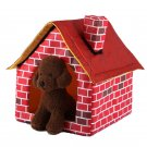 Portable Brick Dog House Warm for Small Dog Pet Travel Detachable Pet's Home New
