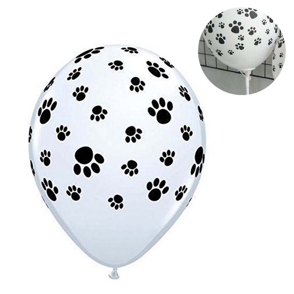 50Pcs 10Inch Dog Paw Prints Balloons Latex Balloons Party Decoration for Ball