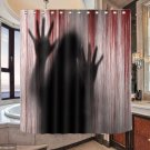 Shower Curtain Bloody Handprints Creepy Shower Screen Bathroom Curtain for Hotel