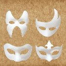 Hand-made Masquerade Unpainted Half Face Masks for Fashion Shows Halloween Party