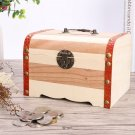 Personalized Engraved Wood Money Saving Box Wooden Piggy Bank with Lock & Key