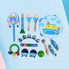 13pcs Percussion Set Rhythm Band Percussion Playset for Kids Toddler