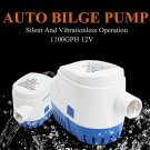 12V 1100GPH Marine Submersible Efficient Rustproof Auto Bilge Pump for Camping
