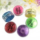 15Pcs Yo-Yo Ball Luminous Portative Plastic Glittery Yoyo for Gifts Birthday