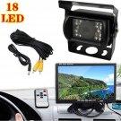 18LEDs IR Car Rear View Reversing Backup Camera HD Waterproof Night Vision Kit