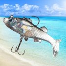 Soft Fishing Lures with Sharp Hooks Freshwater Fishing for Salmon Walleye Bass