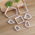 7pcs/set Food Grade Plastic White Christmas Cake Cutter Mold for DIY Bakery Home