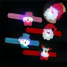 4x LED Slap Bracelet Xmas Circle Wristband Gift Flashing Party Favors Bangle