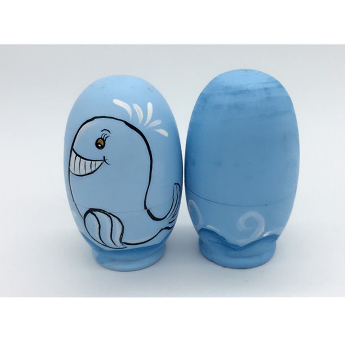 5 Pcs Nesting Dolls Dolphin Adorable Colorful Storage Toy Russian Dolls for Kids