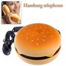 Fashion Hamburger Cheeseburger Burger Shape Home Desktop Corded Phone Telephone