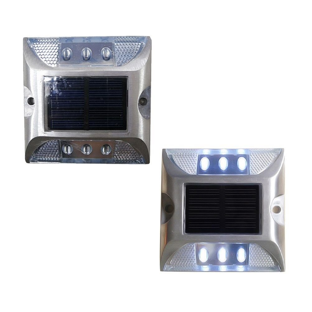 Solar LED Pathway Marker Security Warning Lights for Garden Pathway Home Yard