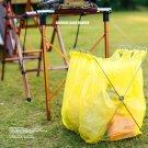 Outdoor Foldable Hamper Trash Bag Stand Trash Rack fr Camping Picnicking 57*31cm