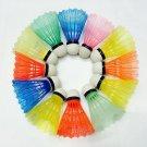 12Pcs Nylon Badminton Plastic Colored Shuttlecocks for Outdoor Sporting Training