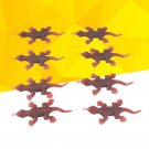 10pcs Gecko Toy Realistic Vivid Spooky Gecko for Party Halloween April Fools Day