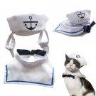 Stylish Cat Hat Durable Sailing Nontoxic Lightweight Pet Sailor Suit for Puppy