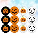 120Pcs Cartoon Decals Halloween Decors for Children DIY Crafts