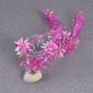 2 x Beautiful Aquarium Plastic Plant Faux False Artificial Flower Aquascape Ornament