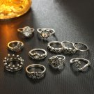 15pcs/lot Retro Trendy Rings Set Knuckle Rings Fashion Jewelry for Lady