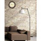 Home Office Wall Clock Quartz 12inch Round Shape Clock Stylish Retro Non Ticking