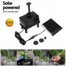 New Outdoor Solar Powered Bird Bath Water Fountain Pump For Pool Garden Aquarium