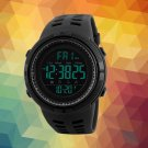 Chic Fashion Sports Watch Night Light Stainless Steel Electronic Watches for Men