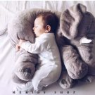 40 CM  Gray Elephant Plush Doll With Long Nose Cute PP Cotton Stuffed Baby Super Soft Elephants Toys