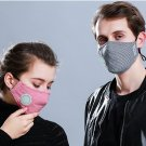 2 Pcs  Cotton Breath Valve PM2.5 Mouth Mask  Activated carbon filter respirator