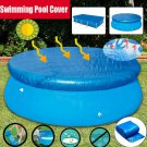 10ft Round Swimming Paddling Pool Cover Inflatable Easy Fast Set Rope