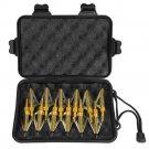 12pcs 100grain 3 Blade Crossed Broadhead Arrow Head Bow Archery Fishing Hunting Golden color