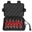 12pcs 100grain 3 Blade Crossed Broadhead Arrow Head Bow Archery Fishing Hunting Red color