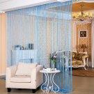 ANMINY Glitter String Door Curtain Bead Room Dividers Beaded Fringe Window Panel Sky Blue