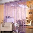 ANMINY Glitter String Door Curtain Bead Room Dividers Beaded Fringe Window Panel Light purple color
