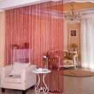 ANMINY Glitter String Door Curtain Bead Room Dividers Beaded Fringe Window Panel Red color