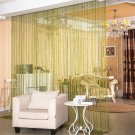 ANMINY Glitter String Door Curtain Bead Room Dividers Beaded Fringe Window Panel Grass Green color