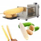 Manual Stainless Steel Twisted Potato Apple Slicer Spiral French Fry Cutter USA STOCK