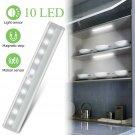 10-LED Motion Sensor Closet Light Wireless Night Light Cabinet Wardrobe Kitchen