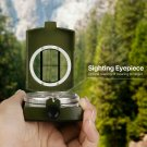 rofessional Military Pocket Metal Sighting Compass Clinometer Hiking Camping new